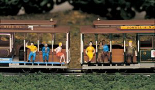 Bachmann 42331 HO Sitting People Figures (6) This is a Bachmann 42331 HO Sitting People Figures (6). Populate your layout with miniature figures from all walks of life. For use with HO scale railroad layouts and diorama settings. Hand painted plastic figures. Contained in a plastic case. Sitting Figures Blonde lady with pink skirt and shoes, white tank top. Black haired lady with yellow pedalpushers and yellow top. Man with blue suit, white shirt, red kerchief. Blue collar worker with black slacks, olive green shirt. Passenger with blue jeans, yellow shirt. Couple, both wearing black.Condition: Factory New (C-9All original; unused; factory rubs and evidence of handling, shipping and factory test run.Standards for all toy train related accessory items apply to the visual appearance of the item and do not consider the operating functionality of the equipment.Condition and Grading Standards are subjective, at best, and are intended to act as a guide. )Operational Status: FunctionalThis item is brand new from the factory.Original Box: Yes (P-9May have store stamps and price tags. Has inner liners.)Manufacturer: BachmannModel Number: 42331MSRP: $10.50Scale/Era: HO ModernModel Type: FiguresAvailability: Ships within 3 Business Days!The Trainz SKU for this item is P11461637. Track: 11461637 - 4047-B (Suite 2730-100)  - 001 - TrainzAuctionGroup00UNK - TDIDUNK