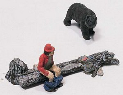 Woodland Scenics D227 HO Scale The Bare Hunter Figure Set Having your pants around your ankles, and your gun out of arm's reach when a bear shows up, is not the sign of a good hunter: a whimsical look at an unfortunate woodsman.Condition: Factory New (C-9All original; unused; factory rubs and evidence of handling, shipping and factory test run.Standards for all toy train related accessory items apply to the visual appearance of the item and do not consider the operating functionality of the equipment.Condition and Grading Standards are subjective, at best, and are intended to act as a guide. )Operational Status: FunctionalThis item is brand new from the factory.Original Box: Yes (P-9May have store stamps and price tags. Has inner liners.)Manufacturer: Woodland ScenicsModel Number: D227MSRP: $8.99Scale/Era: HO ModernModel Type: FiguresAvailability: Ships in 3 to 5 Business Days.The Trainz SKU for this item is P11543039. Track: 11543039 - FS - 001 - TrainzAuctionGroup00UNK - TDIDUNK