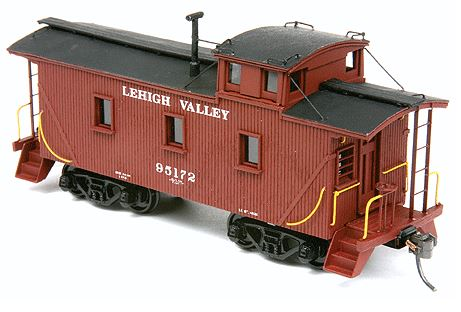 American Model Builders 878 HO Lehigh Valley Late 25' Car with Cupola This is an American Model Builders 878 HO Lehigh Valley Late 25' Car with Cupola Wood Caboose Kit Laser-Cut Wood. Accurate laser-cut wood constructed caboose body kits ready for detailing. Trucks, couplers, ladders and decals not included. To further enhance these kits, Detail Associates produces an AMB Caboose Detail Kit (#229-550, sold separately) with ladders and pre-bent wire grab irons. Exhibiting a 25 foot inside length and rather short 15 foot 7 inch wheelbase, the eight wheeled, wood sheathed cabooses were from the LV's 95100 - 95310 car series, as originally built between 1913 and 1926 by American Car & Foundry, Standard Steel Car Company, and at the LV car shops. Many of the series were modernized following World War II and continued to serve into the 1960s. Upgrades included cast steel trucks, new safety appliances, AB brake system, and the rebuilding of the end platforms with steel steps. This model represents these later modified cars and features 100% laser-cut components with custom laser-scribed birch plywood side, end walls, and cupola plus laser-cut underframe, end platforms, ladders, end railing, window glazing, and brake wheels. Kit comes with cast resin platform steps and white metal smokejack. Tab & Slot carbody construction with Peel & Stick window, door and trim assembly speeds construction. Couplers and trucks not included. Photo shows assembled and painted model - assembly required.Condition: Factory New (C-9All original; unused; factory rubs and evidence of handling, shipping and factory test run.Standards for all toy train related accessory items apply to the visual appearance of the item and do not consider the operating functionality of the equipment.Condition and Grading Standards are subjective, at best, and are intended to act as a guide. )Operational Status: FunctionalThis item is brand new from the factory.Original Box: Yes (P-9May have store stamps and