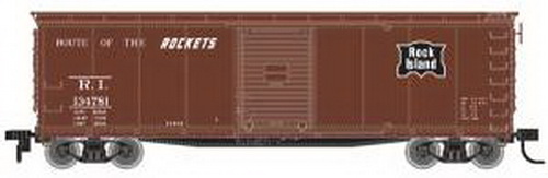 Atlas 64221 HO USRA Steel Rebuilt Boxcar RI #134710/brn Features: Ready-to-runHighly detailed body 10-Panel body 7-8 or 5-5-5 panel ends as per the prototype Accurate painting and printingBrake detailAccuMate® couplers Opening door Fishbelly or Straight underframe as per prototypeSeparately applied wire grabs and side ladders Inside height of model may vary from prototypeCondition: Factory New (C-9All original; unused; factory rubs and evidence of handling, shipping and factory test run.Standards for all toy train related accessory items apply to the visual appearance of the item and do not consider the operating functionality of the equipment.Condition and Grading Standards are subjective, at best, and are intended to act as a guide. )Operational Status: FunctionalThis item is brand new from the factory.Original Box: Yes (P-9May have store stamps and price tags. Has inner liners.)Manufacturer: AtlasModel Number: 64221MSRP: $34.95Scale/Era: HO ModernModel Type: Freight CarsAvailability: Ships in 3 to 5 Business Days.The Trainz SKU for this item is P11649953. Track: 11649953 - FS - 001 - TrainzAuctionGroup00UNK - TDIDUNK