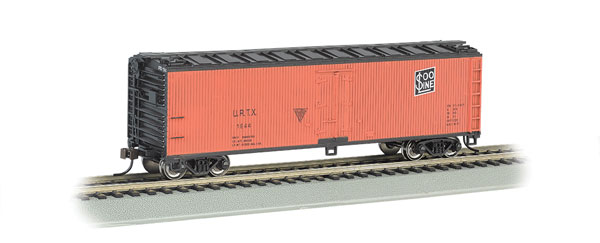 Bachmann 19802 HO Union Refrigerator Co/Soo Line URTX 40' Wood Reefer This is Bachmann 19802 HO Union Refrigerator Co/Soo Line URTX 40' Wood Reefer. Features includes blackened metal wheels, body mounted couplers, non-magnetic axles. Painted in yellow and black.Condition: Factory New (C-9All original; unused; factory rubs and evidence of handling, shipping and factory test run.Standards for all toy train related accessory items apply to the visual appearance of the item and do not consider the operating functionality of the equipment.Condition and Grading Standards are subjective, at best, and are intended to act as a guide. )Operational Status: FunctionalThis item is brand new from the factory.Original Box: Yes (P-9May have store stamps and price tags. Has inner liners.)Manufacturer: BachmannModel Number: 19802Road Name: Union Refrigerator Co/Soo Line URTXMSRP: $36.00Scale/Era: HO ModernModel Type: Freight CarsAvailability: Ships in 2 Business Days!The Trainz SKU for this item is P12090757. Track: 12090757 - No Location Assigned - 001 - TrainzAuctionGroup00UNK - TDIDUNK