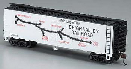 Model Power 733307 HO 41' Steel Reefer, LV This is the HO Scale LV Route Map 41' Steel Refrigerator (#9374) Mantua® Classics Model from Model Power. Suitable for Ages 14 & Older. Features: Fully assembled, super heavyweight freight car, RP25 wheels with brass axles, Knuckle couplers with metal springs, Highly detailed freight trucks with plastic wheels. Scale: HO 1/87. Length: 6-3/8 (161.92mm).Condition: Factory New (C-9All original; unused; factory rubs and evidence of handling, shipping and factory test run.Standards for all toy train related accessory items apply to the visual appearance of the item and do not consider the operating functionality of the equipment.Condition and Grading Standards are subjective, at best, and are intended to act as a guide. )Operational Status: FunctionalThis item is brand new from the factory.Original Box: Yes (P-9May have store stamps and price tags. Has inner liners.)Manufacturer: Model PowerModel Number: 733307MSRP: $17.49Scale/Era: HO ModernModel Type: Freight CarsAvailability: Ships in 3 to 5 Business Days.The Trainz SKU for this item is P11588179. Track: 11588179 - FS - 001 - TrainzAuctionGroup00UNK - TDIDUNK