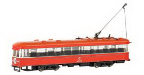 Bachmann 84602 CTA Witt Streetcar w/DCC DCC-equipped for speed, direction, and lighting full interior & lights flywheels overhead wire and track pickupCondition: Factory New (C-9All original; unused; factory rubs and evidence of handling, shipping and factory test run.Standards for all toy train related accessory items apply to the visual appearance of the item and do not consider the operating functionality of the equipment.Condition and Grading Standards are subjective, at best, and are intended to act as a guide. )Operational Status: FunctionalThis item is brand new from the factory.Original Box: Yes (P-9May have store stamps and price tags. Has inner liners.)Manufacturer: BachmannModel Number: 84602Road Name: UndecoratedMSRP: $180.00Scale/Era: HO ModernModel Type: Motorized UnitsAvailability: Ships in 3 to 5 Business Days.The Trainz SKU for this item is P11562859. Track: 11562859 - FS - 001 - TrainzAuctionGroup00UNK - TDIDUNK