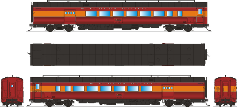 broadway limited 1580 ho southern pacific coast daylight train 3303 ebay. Black Bedroom Furniture Sets. Home Design Ideas