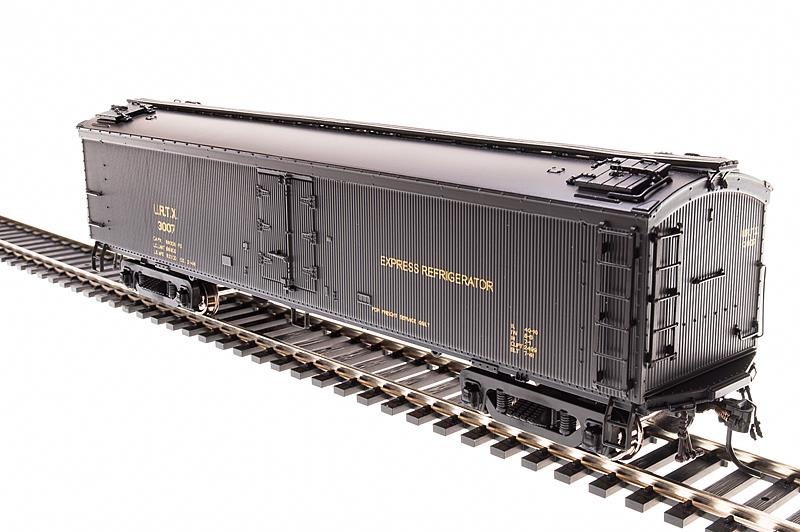 Broadway Limited 1871 HO Union Refrigerator Transit 53'6  Express Reef This is a Broadway Limited 1871 HO Scale Union Refrigerator Transit URTX General American (GACX) 53'6 Wood Express Reefer 2-Pack - Ready to Run #3047, 3097 (Pullman Green). Features:Plastic (ABS) body with ABS chassis,Metal wheels and axles milled for Ultra-Smooth Friction-Free movement,PrototypicAlly accurate design, paint, and color schemes,Many separate applied details including grab irons, steps, etc.,Operating Magnetic knuckle couplers,Will operate on Code 70, 83 and 100 rail,Recommended minimum radius: 18 in.Condition: Factory New (C-9All original; unused; factory rubs and evidence of handling, shipping and factory test run.Standards for all toy train related accessory items apply to the visual appearance of the item and do not consider the operating functionality of the equipment.Condition and Grading Standards are subjective, at best, and are intended to act as a guide. )Operational Status: FunctionalThis item is brand new from the factory.Original Box: Yes (P-9May have store stamps and price tags. Has inner liners.)Manufacturer: Broadway LimitedModel Number: 1871Road Name: Union Refrigerator Transit MSRP: $59.99Scale/Era: HO ModernModel Type: Passenger CarsAvailability: Ships in 2 Business Days!The Trainz SKU for this item is P11975120. Track: 11975120 - No Location Assigned - 001 - TrainzAuctionGroup00UNK - TDIDUNK