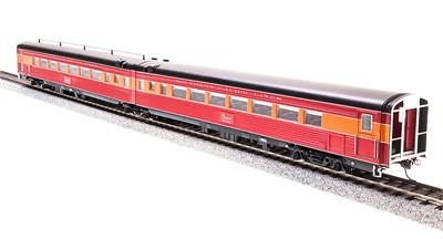 Broadway Limited 698 HO Southern Pacific Morning Daylight Passenger Ca This is a Broadway Limited 698 HO Scale Southern Pacific Morning Daylight Passenger Car Articulated Chair W #2466 / Chair M #2465 (2-Car Set). Features: 1941 Pre-war Version, Skirted Cars, Lettered Southern Pacific Lines, Beautifully DetaiLed, Accurate Passenger Cars, Authentic Design, Paint and Color Schemes, Many Separately Applied Details Including Hand Rails, DetaiLed, Properly colored interiors, Lighted Interiors, Operational Exterior lighting (where applicable), PrototypicAlly Accurate Articulated Cars (where applicable), Antennae (where applicable), Operating Full-width, Sprung Diaphragms, PrototypicAlly Accurate Match with PCM SP GS-4 Locomotives and PCM Alco PA/PB Locomotives, Observation Car: Lighted Drumhead & Marker Lights, Body Composition: ABS, Chassis Composition: ABS, (2) Kadee-compatible operating metal knuckle couplers., Compatible Tracks: Code 70, 83, 100 Rail, Recommended Minimum Radius: 22Condition: Factory New (C-9All original; unused; factory rubs and evidence of handling, shipping and factory test run.Standards for all toy train related accessory items apply to the visual appearance of the item and do not consider the operating functionality of the equipment.Condition and Grading Standards are subjective, at best, and are intended to act as a guide. )Operational Status: FunctionalThis item is brand new from the factory.Original Box: Yes (P-9May have store stamps and price tags. Has inner liners.)Manufacturer: Broadway LimitedModel Number: 698Road Name: Southern PacificMSRP: $149.99Scale/Era: HO ModernModel Type: Passenger CarsAvailability: Ships in 1 Business Day!The Trainz SKU for this item is P12134382. Track: 12134382 - No Location Assigned - 001 - TrainzAuctionGroup00UNK - TDIDUNK
