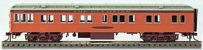 Con-Cor 94430 HO Milwaukee Road Crystal Bay Heavyweight 65' Branchline This is a Con-Cor 94430 HO Scale Heavyweight 65' Branchline Solarium-Observation w/Lights - Ready to Run Milwaukee Road Crystal Bay (Olympian, orange, maroon, gray). * Highly Detailed Car Body w/Separate Wire Handrails * Factory-Installed Interior Lighting Works on DC or DCC * Complete Underbody Details * Working Diaphragms * Scissors Gates at End Doors * Free-Rolling RP-25 Metal Wheels * Working Knuckle Couplers * Accurate Paint Colors * Complete Interior Details * Super-Detailed Trucks * Operates on 18 Radius Curve.Condition: Factory New (C-9All original; unused; factory rubs and evidence of handling, shipping and factory test run.Standards for all toy train related accessory items apply to the visual appearance of the item and do not consider the operating functionality of the equipment.Condition and Grading Standards are subjective, at best, and are intended to act as a guide. )Operational Status: FunctionalThis item is brand new from the factory.Original Box: Yes (P-9May have store stamps and price tags. Has inner liners.)Manufacturer: Con-CorModel Number: 94430Road Name: Milwaukee RoadMSRP: $84.98Scale/Era: HO ModernModel Type: Passenger CarsAvailability: Ships in 1 Business Day!The Trainz SKU for this item is P12093932. Track: 12093932 - No Location Assigned - 001 - TrainzAuctionGroup00UNK - TDIDUNK
