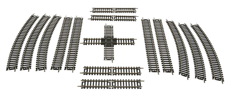 Life Like 3006 HO Nickel Silver  Expander Figure-Eight Track This is a Life-Like Products 3006 HO Scale Track Expander Figure-Eight Code 100 Nickel Silver Perfect for layouts and for adding onto train sets, features include standard-profile easy-maintenance Code 100 nickel-silver rail, molded black plastic ties with realistic wood grain, joiners and holes to accommodate track nails. Remote-controlled turnouts come with a slide switch with momentary contact for simple wiring. The turnouts feature an 18 radius diverging route for maximum compatibility with popular Code 100 track systems. Turns any HO train set circle of track into a figure-eight up to 42 x 90 (1.06 x 2.2m). Includes four 9 straight tracks, four 6 straight tracks, six 18 radius curves and one 90 degree crossing section. Code 100 Track 18 Radius Curve 4-Pack 9 Straight Track 4-Pack Right Hand Remote Controlled Turnout Left Hand Remote Controlled Turnout Flex Track 36 91.4cm Double Oval Track Expander Set Figure Eight Track Expander Set 18 Curved Terminal Rerailer Lighted Bumper 2-Pack Rail Joiners pkg(48) Terminal Joiner #22 Gauge Wire 2-PackCondition: Factory New (C-9All original; unused; factory rubs and evidence of handling, shipping and factory test run.Standards for all toy train related accessory items apply to the visual appearance of the item and do not consider the operating functionality of the equipment.Condition and Grading Standards are subjective, at best, and are intended to act as a guide. )Operational Status: FunctionalThis item is brand new from the factory.Original Box: Yes (P-9May have store stamps and price tags. Has inner liners.)Manufacturer: Life LikeModel Number: 3006MSRP: $17.98Scale/Era: HO ModernModel Type: Track/Switches/Etc.Availability: Ships in 3 to 5 Business Days.The Trainz SKU for this item is P11979443. Track: 11979443 - FS - 001 - TrainzAuctionGroup00UNK - TDIDUNK