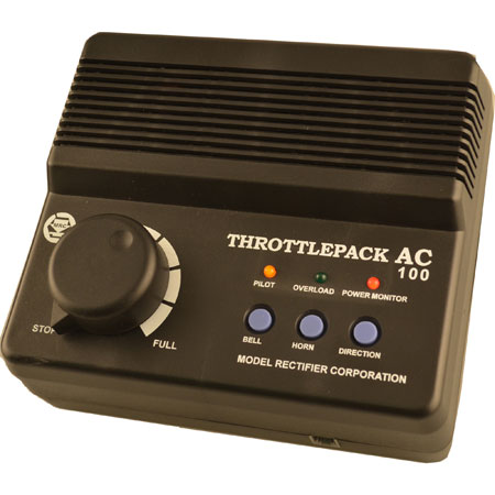 MRC 1311 ThrottlePack AC 100 Watts This is an MRC 1311 All Scales ThrottlePack AC.Rated at 100 watts and compatible with all O/S Scale 3-rail trains and both Lionel and MTH electronic sound locomotives. Features buttons for both bell and horns.Condition: Factory New (C-9All original; unused; factory rubs and evidence of handling, shipping and factory test run.Standards for all toy train related accessory items apply to the visual appearance of the item and do not consider the operating functionality of the equipment.Condition and Grading Standards are subjective, at best, and are intended to act as a guide. )Operational Status: FunctionalThis item is brand new from the factory.Original Box: Yes (P-9May have store stamps and price tags. Has inner liners.)Manufacturer: MRCModel Number: 1311MSRP: $199.98Scale/Era: HO ModernModel Type: TransformersAvailability: Ships in 3 to 5 Business Days.The Trainz SKU for this item is P12061678. Track: 12061678 - FS - 001 - TrainzAuctionGroup00UNK - TDIDUNK