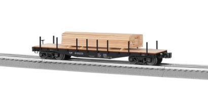 Lionel 6-82851 Northern Pacific 40' Flatcar with Lumber Load This is a Lionel 682851 O Northern Pacific 40' Flatcar with Lumber Load. This features Die-cast construction for reliable operation loaded or empty, New ribbed back wheels, Realistic molded log load included, Easy conversion to scale couplers, and Tie down chains included.Condition: Factory New (C-9All original; unused; factory rubs and evidence of handling, shipping and factory test run.Standards for all toy train related accessory items apply to the visual appearance of the item and do not consider the operating functionality of the equipment.Condition and Grading Standards are subjective, at best, and are intended to act as a guide. )Operational Status: FunctionalThis item is brand new from the factory.Original Box: Yes (P-9May have store stamps and price tags. Has inner liners.)Manufacturer: LionelModel Number: 6-82851MSRP: $89.99Scale/Era: O ModernModel Type: Freight CarsAvailability: Ships in 2 Business Days!The Trainz SKU for this item is P12159774. Track: 12159774 - No Location Assigned - 001 - TrainzAuctionGroup00UNK - TDIDUNK