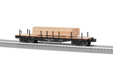 Lionel 682853 O Pickering Lumber 40' Flatcar with Lumber Load This is a Lionel 682853 O Pickering Lumber 40' Flatcar with Lumber Load. This features Die-cast construction for reliable operation loaded or empty, New ribbed back wheels, Realistic molded log load included, Easy conversion to scale couplers, and Tie down chains included.Condition: Factory New (C-9All original; unused; factory rubs and evidence of handling, shipping and factory test run.Standards for all toy train related accessory items apply to the visual appearance of the item and do not consider the operating functionality of the equipment.Condition and Grading Standards are subjective, at best, and are intended to act as a guide. )Operational Status: FunctionalThis item is brand new from the factory.Original Box: Yes (P-9May have store stamps and price tags. Has inner liners.)Manufacturer: LionelModel Number: 6-82853MSRP: $89.99Scale/Era: O ModernModel Type: Freight CarsAvailability: Ships in 1 Business Day!The Trainz SKU for this item is P12159776. Track: 12159776 - 4015-A (Suite 2730-100)  - 001 - TrainzAuctionGroup00UNK - TDIDUNK