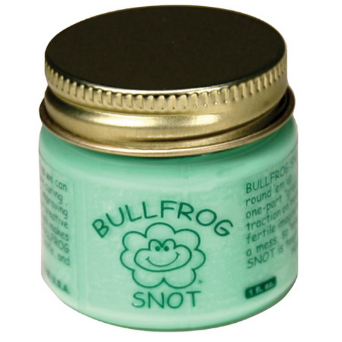 "Bullfrog Snot 1 Liquid Plastic Traction Tire - 1oz This is Bullfrog Snot 1 Bullfrog Snot (1oz), liquid plastic traction tire maker for model railroad locomotives. Bullfrog Snot is a sophisticated, specially secret formulated, one-part ""green"" liquid plastic with very unique properties. It was concocted and brewed by a veteran N-scaler specifically to be the ideal solution for improving traction on model railroads.Bullfrog Snot is easily applied, and easily removed. Just a toothpick or an artist brush is all you'll need to install and an Xacto knife to remove. And, It cures at room temperature in moments. Made in the USA.Condition: Factory NewOperational Status: FunctionalThis item is brand new from the factory.Original Box: YesManufacturer: Bullfrog SnotModel Number: 1MSRP: $24.95Category 1: Maintenance & SuppliesCategory 2: Adhesives and GluesAvailability: Ships in 2 Business Days!The Trainz SKU for this item is P11625035. Track: 11625035 - 4019-C (Suite 2730-100)  - 001 - TrainzAuctionGroup00UNK - TDIDUNK"