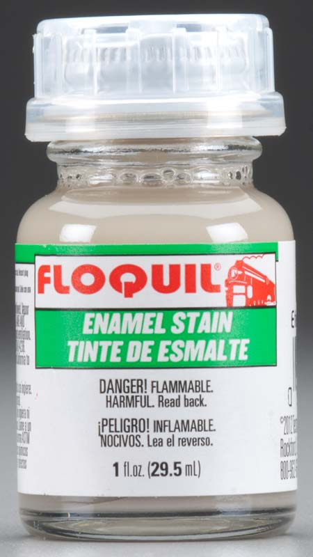 Floquil 110652 Wet Effect Stain 1 oz. This is Floquil 110652 Wet Effect Stain. Enamel stain, 1oz (29.5ml).Its key features are:Flammable and toxicApply stain with a fine brush around detail, seams, recessed and standing detail or apply evenly over entire surfaceStain will naturally concentrate in corners and pull up flat surfacesLet dry for 15 minutes, remove excess with thinner using either moistened cloth or fine brushLeave 24 hours for full cureSeal with clear coatThin paint 3 parts paint to 2 parts thinnerAdjust compressor to 20-25 PSIFor Aztek Airbrushes use high flow nozzles, Red #9342C, Orange #9343C, or Yellow #9344COther brand airbrushes use a #3 needleCondition: Factory NewOperational Status: FunctionalThis item is brand new from the factory.Original Box: YesManufacturer: FloquilModel Number: 110652MSRP: $5.45Category 1: Maintenance & SuppliesCategory 2: OtherAvailability: Ships in 3 to 5 Business Days.The Trainz SKU for this item is P11823616. Track: 11823616 - FS - 001 - TrainzAuctionGroup00UNK - TDIDUNK
