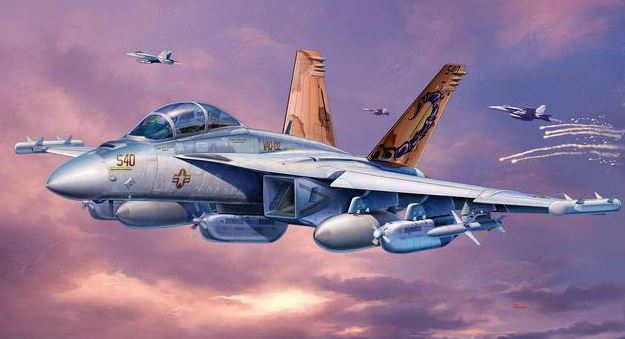 Revell of Germany 80-4904 1:144 EA-18G Growler Aircraft This is a Revell of Germany 80-4904 1:144 EA-18G Growler Aircraft. The EA-18G Growler is used by the U.S. Navy in Electronic Warfare to disrupt enemy communications. It replaces the EA-6B Prowler. Its mission is to monitor and attack enemy centres of communication and radar installations. To engage enemy radar stations it carries HARM guided missiles. This features Surface details with recessed panel joints, Two-seat cockpit with ejection seats, Detailed landing gear, 6 wing and fuselage pylons, 2 ALQ-99 Jamming pods, 2 ALQ-218 Receiver pods, 2 AIM-9x missiles, 2 auxiliary fuel tanks. Skill Level: 4, Length: 127 mm, Wingspan: 93, and Number of Parts: 63.Condition: Factory NewOperational Status: FunctionalThis item is brand new from the factory.Original Box: YesManufacturer: Revell of GermanyModel Number: 80-4904MSRP: $10.95Category 1: Model KitsCategory 2: 1:100 (and higher scales)Availability: Ships in 3 to 5 Business Days.The Trainz SKU for this item is P12122449. Track: 12122449 - FS - 001 - TrainzAuctionGroup00UNK - TDIDUNK