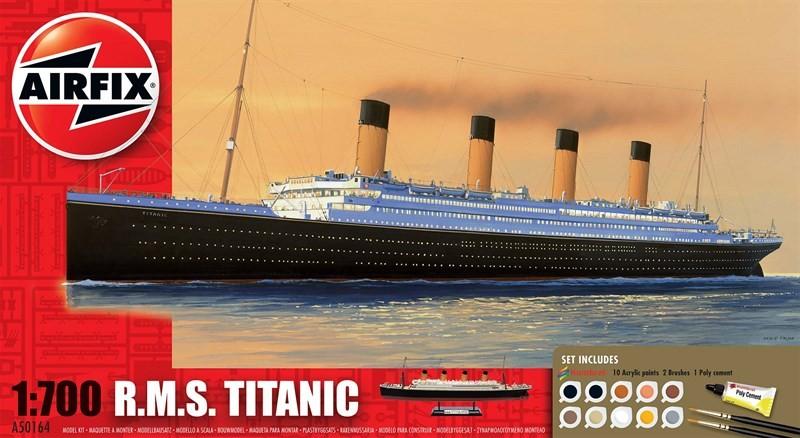 Airfix Models 50164 1:700 RMS Titanic Ocean Liner Gift Set w/paint & g