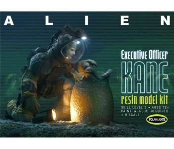 Polar Lights 912 1:9 Executive Officer Kane Figure w/Chest-Burster Egg This is a Polar Lights 912 1/9 Executive Officer Kane Figure w/Chest-Burster Egg & Base from Alien Movie. Features: Scale: 1:9. Skill Level: 3 (ages 12 and up). Glue assembly, paint required, Molded colors TBD, First ALL NEW ALIEN kit in years, Resin parts captures superb detail, Engineered to allow realistic lighting effects, Captures iconic moment in the film, Requires CA glue.Condition: Factory NewOperational Status: FunctionalThis item is brand new from the factory.Original Box: YesManufacturer: Polar LightsModel Number: 912MSRP: $162.49Category 1: Model KitsCategory 2: 1:100 (and higher scales)Availability: Ships in 1 Business Day!The Trainz SKU for this item is P12121773. Track: 12121773 - No Location Assigned - 001 - TrainzAuctionGroup00UNK - TDIDUNK