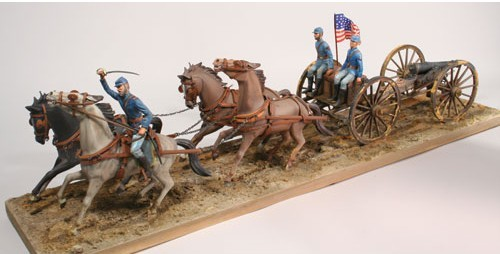 Lindberg 70350 1:16 Civil War: Union Horse Drawn Field Artillery Highly detailed plastic pieces molded in white.4 horses with harness and hitch chains.3 authentic civil war artillery figures.Civil War cannon, ramrod and limber.Water bucket.Locking chains.Union flag.Instructions.Condition: Factory NewOperational Status: FunctionalThis item is brand new from the factory.Original Box: YesManufacturer: LindbergModel Number: 70350MSRP: $300.00Category 1: Other ToysCategory 2: Model KitsAvailability: Ships in 1 Business Day!The Trainz SKU for this item is P12049505. Track: 12049505 - DS (Shelf)  - 001 - TrainzAuctionGroup00UNK - TDIDUNK