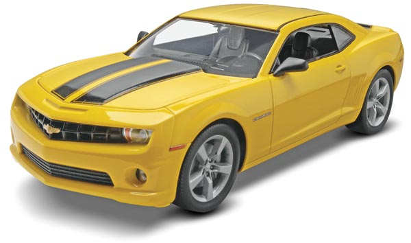 Revell 85-4239 1:25 2010 Camaro SS (2'n 1) This is a Revell 85-4239 1:25 Scale 2010 Camaro® SS® (2'n 1). The SS version with automatic transmission features a 400 hp L99 V-8 engine which propels it from 0-60 mph in 4.6 seconds - and a full quarter-mile in 13.1 seconds. Kit features an opening hood with full engine detail, a factory aero package with side skirts and a front spoiler, a choice of SS package or custom wheels, soft black tires, chrome-plated parts and decals with stock markings and two optional accent trim packages.Condition: Factory NewOperational Status: FunctionalThis item is brand new from the factory.Original Box: YesManufacturer: RevellModel Number: 85-4239MSRP: $26.95Category 1: Model KitsCategory 2: 1:24 ScaleAvailability: Ships in 3 to 5 Business Days.The Trainz SKU for this item is P12130229. Track: 12130229 - FS - 001 - TrainzAuctionGroup00UNK - TDIDUNK