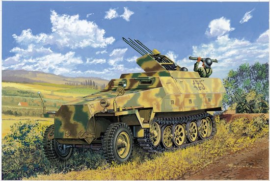 Dragon 6217 1/35 SdKfz 251/21 Ausf D Drilling Halftrack w/MG151 Gun This is 1/35 Sd.Kfz. 251/21 Ausf. D Schutzenpanzerwagen - Drilling MG 151-- First kit of its kind on the market!This newly tooled unique kit has been extensively researched. Full details are below!New-Tooled Parts:- Conical pedestal mount- MG151 with detailed cradle- One-piece slide molded 3-side armor- Ammo bins & ammo belt with nice details- Additional upper superstructure armor- New armor plate for driver's roof- Stowage box & spare ammo bins- Gunner x 1Special Features:- Brass flash suppressor for the barrel- MG can rotate and elevate- Tools stowage box optional to open/ close- Clear vision blocks w/interior and open/close option- Innovative ez-Track- Extra regular individual track links included- Front seat w/photo-etched seat back spring- Slide-molded rear tow shackle- Road wheels details-up with engraving- Details-up in both side of lower hull w/photo-etched partsBonus:- Soft vinyl true- scale 1/35 uniforms- Brass width indicator bars- Brass ammo- Brass spent shell casing- bonus driver- 4 anti-aircraft crewCondition: Factory NewOperational Status: FunctionalThis item is brand new from the factory.Original Box: YesManufacturer: DragonModel Number: 6217MSRP: $84.99Category 1: Model KitsCategory 2: 1:32 ScaleAvailability: Ships in 1 Business Day!The Trainz SKU for this item is P12115812. Track: 12115812 - No Location Assigned - 001 - TrainzAuctionGroup00UNK - TDIDUNK