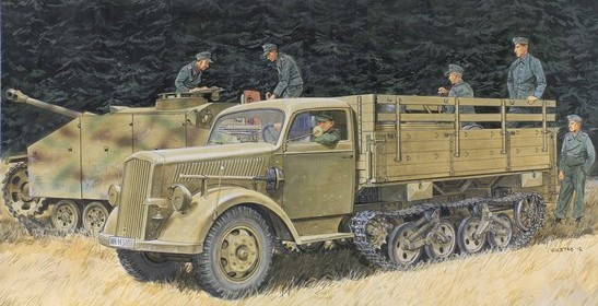 Dragon 6761 1:35 SdKfz 3a Maultier Halftrack This stunning 1/35 scale kit, fully living up to the standards expected by current-generation modelers, is based on 3-ton truck released earlier. However, it features a great many new parts such as wheels, suspension, tracks, chassis and cargo bed to ensure the vehicle is top notch in every respect. For the serious modeler wishing to depict a realistic Eastern Front winter scene, this Maultier will prove an invaluable asset. Whether accompanying one of Dragon's many panzer kits in a frontline diorama, or negotiating thick mud or snow, this kit allows modelers to pursue their wildest imagination. The years of anticipation for a new Maultier are now being generously rewarded!Condition: Factory NewOperational Status: FunctionalThis item is brand new from the factory.Original Box: YesManufacturer: DragonModel Number: 6761MSRP: $78.50Category 1: Model KitsCategory 2: 1:32 ScaleAvailability: Ships in 3 to 5 Business Days.The Trainz SKU for this item is P12028432. Track: 12028432 - FS - 001 - TrainzAuctionGroup00UNK - TDIDUNK