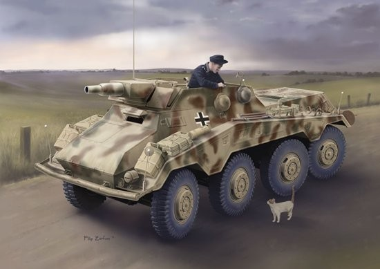 """Dragon 6786 1:35 SdKfz 234/3 Schwere PzSpahWg w/7.5cm KwK Gun Germany created a number of successful schwerer Panzerspahwagen (""""heavy armored reconnaissance vehicles""""). An important family of vehicles in this class was the Sd.Kfz.234, which carried on where the older Sd.Kfz.231 8-Rad (""""eight-wheel"""") design left off. Design work commenced in August 1940 and the Sd.Kfz.234 had four distinct variants, the third of which was the Sd.Kfz.234/3. This 8-wheeled vehicle is the subject of Dragon's newest 1/35 scale plastic kit. This 6m-long reconnaissance vehicle boasted a 7.5cm KwK51 gun of L/24 caliber installed in the open-topped fighting compartment. Only 88 vehicles were produced by B?ssing-NAG between June and December 1944, and they were employed in armored reconnaissance companies on both the Eastern and Western Fronts.Dragon's new Sd.Kfz.234/3 has been upgraded as a Premium Edition kit. Brand new are the side fenders with integral storage bins. These bins have photo-etched covers that can be modeled open should the modeler choose to do so, which gives more versatility. The 7.5cm KwK51 gun is accurately rendered, which is just as well since all its details are visible in the open-topped fighting compartment. The driveshafts and tie rods are constructed in such a way as to allow all eight wheels to be angled, just like on the original vehicle. This updated Premium Edition Sd.Kfz.234/3 kit accurately replicates this German 8x8 armored vehicle and it certainly gives the family more firepower.Condition: Factory NewOperational Status: FunctionalThis item is brand new from the factory.Original Box: YesManufacturer: DragonModel Number: 6786MSRP: $68.00Category 1: Model KitsCategory 2: 1:32 ScaleAvailability: Ships in 1 Business Day!The Trainz SKU for this item is P12019384. Track: 12019384 - DS (Shelf)  - 001 - TrainzAuctionGroup00UNK - TDIDUNK"""