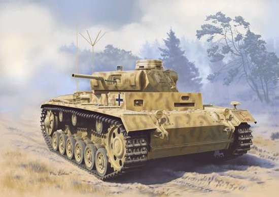Dragon 6792 1:35 PzBoebWg III Ausf D (Sdkfz 143) Tank This 1/35 scale tank is immediately obvious in the stunning box-top illustration portraying a Panzer III M of 2.Panzer-Division fighting during this gargantuan battle. Meanwhile, inside the box lie all the necessary and desirable ingredients to create a spectacular Panzer III M from this period. The Sch?rzen plates are produced in a true-to-scale thickness, and the brackets on which the skirts are mounted are sophisticated and accurate. Offered as a Smart Kit, it is extremely well engineered and the parts separation is cleverly handled by the design team. Markings for vehicles in the Battle of Kursk are available in the form of Cartograf decals, including 2.Pz.Div. That means this kit shares the same divisional markings as the Panzer III Ausf.N (Item No.6474) and Panzer IV Ausf.G (Item No.6594) kits already available. Modelers can thus make a trio of tanks fighting at Kursk!Condition: Factory NewOperational Status: FunctionalThis item is brand new from the factory.Original Box: YesManufacturer: DragonModel Number: 6792MSRP: $71.00Category 1: Model KitsCategory 2: 1:32 ScaleAvailability: Ships in 1 Business Day!The Trainz SKU for this item is P12019421. Track: 12019421 - DS (Shelf)  - 001 - TrainzAuctionGroup00UNK - TDIDUNK