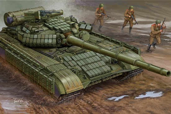 Trumpeter Models 1580 1:35 Soviet T64AV Mod 1984 Main Battle Tank This is Trumpeter 1/35 Soviet T64AV Mod 1984 Main Battle Tank (New Variant). Modified T-64 included a mounted a six smoke grenade-launcher on each side of the gun and updated gill plates adding a rubber skirt for a longer life. Kit consists of over 600 parts including individual track links and photo-etched details.Condition: Factory NewOperational Status: FunctionalThis item is brand new from the factory.Original Box: YesManufacturer: Trumpeter ModelsModel Number: 1580MSRP: $64.95Category 1: Model KitsCategory 2: 1:32 ScaleAvailability: Ships in 1 Business Day!The Trainz SKU for this item is P12123316. Track: 12123316 - No Location Assigned - 001 - TrainzAuctionGroup00UNK - TDIDUNK
