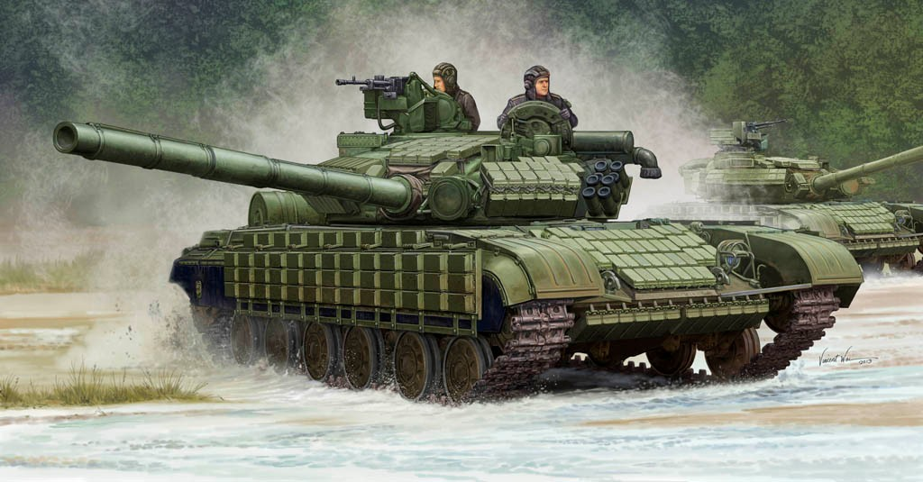 Trumpeter Models 5522 1:35 Soviet T64BV Mod 1985 Main Battle Tank After 1981, the majority of T-64As were modernized by mounting 81mm six smoke grenade launcher on each side of the gun, and by replacing the gill plates by a rubber skirt for a longer life. Some of them seem to have been fitted after 1985 with reactive bricks, variant known as the T-64BV. Kit consists of over 600 parts and includes photo-etched parts and plastic track links.Condition: Factory NewOperational Status: FunctionalThis item is brand new from the factory.Original Box: YesManufacturer: Trumpeter ModelsModel Number: 5522MSRP: $64.95Category 1: Model KitsCategory 2: 1:32 ScaleAvailability: Ships in 1 Business Day!The Trainz SKU for this item is P12123922. Track: 12123922 - No Location Assigned - 001 - TrainzAuctionGroup00UNK - TDIDUNK