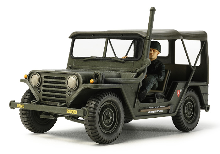 Tamiya 35334 1/35 US Utility Truck M151A1 This is Tamiya 35334 1/35 US Utility Truck M151A1. 1959 marked the first appearance of the M151, a vehicle which stood the test of time and served the U.S. military for a number of years. Based on a lightweight semi-monocoque and independent suspension with coil springs, it represented a leap forward in design from WWII predecessors. The M151A1 was an evolution of the vehicle which debuted in 1964 and featured design tweaks such as rear suspension improvements and turn signals on the front fenders. This versatile vehicle could be seen deployed in many different roles during the Vietnam War. Its key features are: This is a 1/35 scale plastic model assembly kit of the M151A1 Length: 98mm, Width: 48mm The form of the M151A1 with added turn signals and rear suspension modifications is accurately captured Modelers can choose to recreate this versatile vehicle with U.S. Marine Corps or U.S. Army specifications Underside includes a realistic depiction of the A1's revamped swing axle rear suspension The model depicts the A1 with deployed hood Comes with a driver figure and 2 sets of marking options included 1) USMC 3rd Marine Division, Vietnam 2) US Army 18th Military Police Brigade, Vietnam Paints needed: Olive Drab, White, Orange, Red, Chrome Silver, Flat Black, Flat Green, Flat Flesh, Deep Green, Khaki, Khaki Drab, Flat Earth, Metallic Gray, Buff, Olive Green, Desert Yellow, Red BrownCondition: Factory NewOperational Status: FunctionalThis item is brand new from the factory.Original Box: YesManufacturer: TamiyaModel Number: 35334MSRP: $34.00Category 1: Model KitsCategory 2: 1:32 ScaleAvailability: Ships in 1 Business Day!The Trainz SKU for this item is P11994070. Track: 11994070 - No Location Assigned - 001 - TrainzAuctionGroup00UNK - TDIDUNK