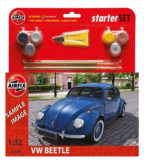 Airfix Models 55207 1:32 VW Beetle Car Medium Starter Set w/paint & gl