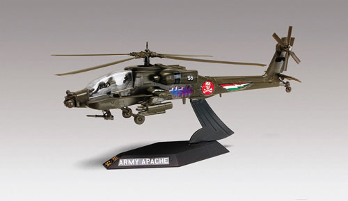 Revell 85-1183 1:72 SnapTite Apache Helicopter Desktop This is a Revell 85-1183 1:72 Scale SnapTite® Apache Helicopter Desktop. This high-tech U.S. Army combat machine carries advanced electronic equipment. It's heavily armed with a 30mm 'chain gun', Hellfire missiles and dual 2.75 inch rockets pods. Features: Easy snap-together construction, parts molded in color, special decal sheet with one set of authentic markings and a bonus set of custom graphics such as lightning bolts and shark jaws. Paint and glue not needed.Condition: Factory NewOperational Status: FunctionalThis item is brand new from the factory.Original Box: YesManufacturer: RevellModel Number: 85-1183MSRP: $15.95Category 1: Model KitsCategory 2: 1:64 ScaleAvailability: Ships in 3 to 5 Business Days.The Trainz SKU for this item is P12130082. Track: 12130082 - FS - 001 - TrainzAuctionGroup00UNK - TDIDUNK
