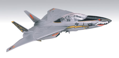 Revell 85-1180 1:72 SnapTite F-14C Tomcat Desktop This is a Revell 85-1180 1:72 Scale SnapTite® F-14C Tomcat® Desktop. This carrier-based aircraft is programmed for automatic control of its swing wings. Features: Easy snap-together construction, parts molded in color, special decal sheet with one set of authentic markings and a bonus set of custom graphics such as lightning bolts and shark jaws. Paint and glue not needed. The Grumman F-14 is an air superiority fighter without equal. It has been proven to be one of the most maneuverable combat fighters ever developed. TheTomcat utilizes movable, variable geometry wings to provide maximum performance over a broad spectrum of flight characteristics. The F-14 is equipped with an array of sophisticated systems that transform it into a lethal combat aircraft.30 detailed gray parts that snap together - no glue necessary; no paint necessary.The F-14 is a two seat aircraft capable of speeds in excess of Mach 2.It's powered by two TF-30 turbofans, and has a twin tail that helps keep it flying, even if one tail is damaged.Swingwing design where the wings can sweep forward for excellent low-speed handling, or they can sweep back for high-speed performance.Tomcat has a powerful AWG-9 radar that can track several targets at a long range, including cruise missles.Bonus stickers are included, which can be placed anywhere on the model; decals are of the peel-and-stick variety.Also included is an Adventures Built collector poster.Condition: Factory NewOperational Status: FunctionalThis item is brand new from the factory.Original Box: YesManufacturer: RevellModel Number: 85-1180MSRP: $15.95Category 1: Model KitsCategory 2: 1:64 ScaleAvailability: Ships in 3 to 5 Business Days.The Trainz SKU for this item is P12130079. Track: 12130079 - FS - 001 - TrainzAuctionGroup00UNK - TDIDUNK