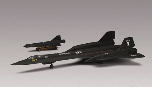 Revell 85-5810 1:72 SR-71A Blackbird This is a Revell 85-5810 1:72 Scale SR-71A Blackbird®. This unique airplane flew at 2,000 mph at altitudes that are still classified. With high-tech electronic equipment onboard, it gathered strategic reconnaissance information for the U.S. military for over 25 years. Features: Accurate surface detail, can be built as drone carrier (drone included), waterslide decals. The SR-71 was developed by Lockheed's Skunk Works to replace the U-2 high altitude spyplane which had become vulnerable to interception by surface-to-air missiles. The SR-71 is very fast and with a top speed in excess of 2100mph it still holds many world speed records. In the early '90s the SR-71 fleet was mothballed but several aircraft have been reactivated by the continuing need for a manned reconnaissance capability. Markings included for one USAF aircraft. 66 parts in black and clear plastic with raised panel lines.One piece cockpit tub with separate instrument panels, seats, and seated pilot and observer figures. Optional position canopies.Detailed landing gear and wheel wells, exhaust nozzles and intake cones.Includes D-21 reconnaisance drone with ground trolley.Condition: Factory NewOperational Status: FunctionalThis item is brand new from the factory.Original Box: YesManufacturer: RevellModel Number: 85-5810MSRP: $21.98Category 1: Model KitsCategory 2: 1:64 ScaleAvailability: Ships in 3 to 5 Business Days.The Trainz SKU for this item is P12130341. Track: 12130341 - FS - 001 - TrainzAuctionGroup00UNK - TDIDUNK