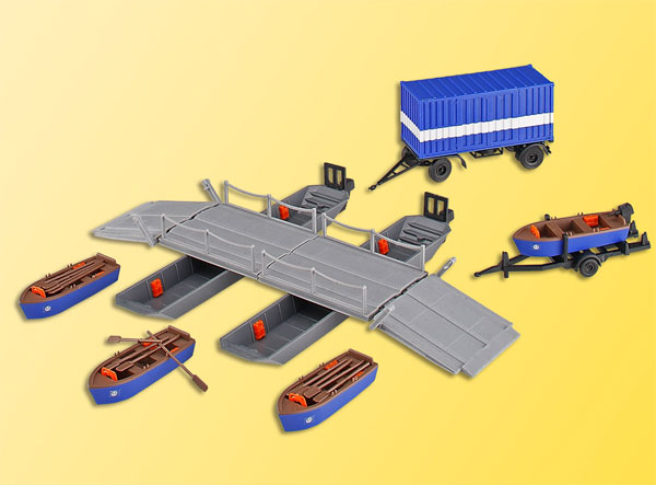 Kibri 38135 1:87 THW Pontoon Boats with Bridge Sections and Equipment