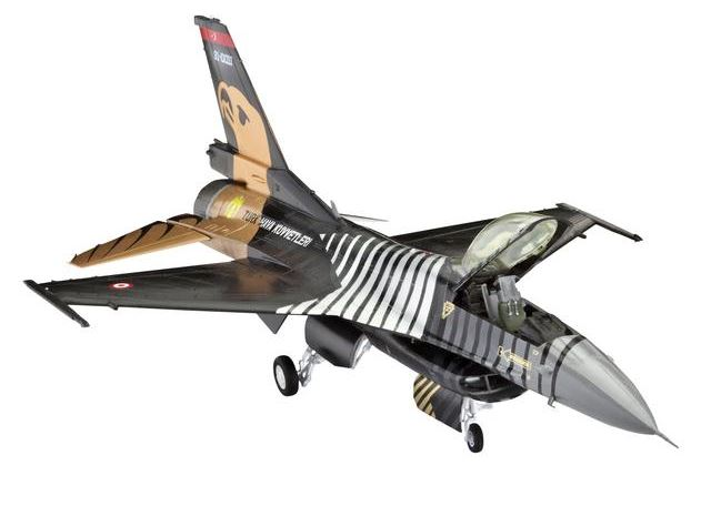 Revell of Germany 80-4844 1:72 Lockheed Martin F-16 C Solo Turk Aircra This is a Revell of Germany 80-4844 1:72 Lockheed Martin F-16 C Solo Turk Aircraft. The F-16 is one of the most successful and versatile fighter aircraft in NATO and has wide variety of roles. Its sphere of operation has been continuously improved through constant modifications. The F-16C from Lot 50/52 is equipped with the powerful F110-G-229 engine (13,420 kp thrust) and has an electronic target acquisition system. The Turkish Air Force celebrated its 100th anniversary in 2011. For this event it commissioned a custom paint job for one of its F-16C. Famous pilots such as Major Murat Keles and Captain Faith Batmaz flew the Solo Türk F-16C at numerous air-shows. This features Recessed panel joints, Detailed cockpit and ejection seat, Pilot figure, Detailed landing gear, C-version tail, Large air intake, GE-229 engine nozzle, 2 HARM-missiles, ECM Pod, Wing pylons, AIM-120 missiles, and Fuselage and underwing tanks. Skill Level: 4, Length: 213 mm, Wingspan: 140 mm, and Number of Parts: 126.Condition: Factory NewOperational Status: FunctionalThis item is brand new from the factory.Original Box: YesManufacturer: Revell of GermanyModel Number: 80-4844MSRP: $24.95Category 1: Model KitsCategory 2: 1:87 ScaleAvailability: Ships in 2 Business Days!The Trainz SKU for this item is P12063645. Track: 12063645 - No Location Assigned - 001 - TrainzAuctionGroup00UNK - TDIDUNK
