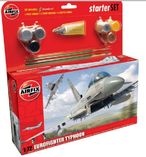 Airfix Models 50098 1:72 Eurofighter Typhoon Aircraft Large Starter Se