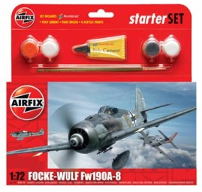 Airfix Models 55110 1:72 Focke Wulf Fw190A8 Fighter Small Starter Set