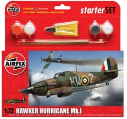 Airfix Models 55111 1:72 Hawker Hurricane Mk I Fighter Small Starter S
