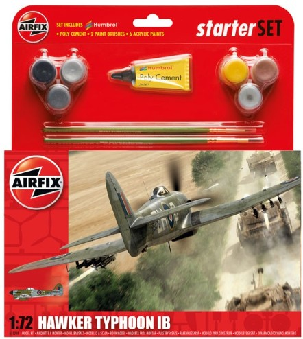 Airfix Models 55208 1:72 Hawker Typhoon IB Fighter Medium Starter Set