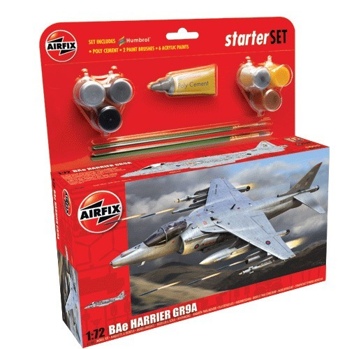 Airfix Models 55300 1:72 BAE Harrier GR9A Fighter Large Starter Set w/
