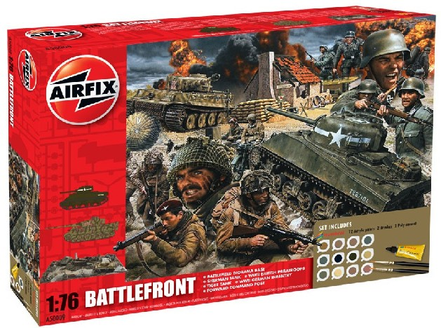 Airfix Models 50009 1:76 Battlefront Diorama Gift Set w/paint & glue