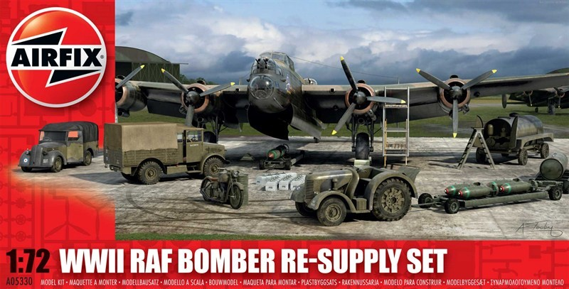 Airfix Models 5330 1:72 WWII RAF Bomber Re-Supply Set