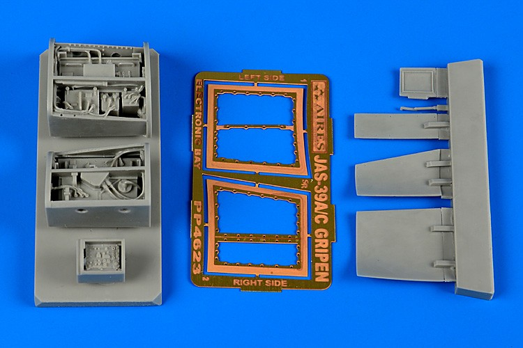 Aires Hobby 4623 1:48 JAS39C Gripen Electronic Bay For KTY This is a 1:48 JAS39C Gripen Electronic Bay for KTY Model kit accessory from Aires Hobby.Condition: Factory NewOperational Status: FunctionalThis item is brand new from the factory.Original Box: YesManufacturer: Aires HobbyModel Number: 4623MSRP: $16.49Category 1: Model KitsCategory 2: AccessoriesAvailability: Ships in 3 to 5 Business Days.The Trainz SKU for this item is P12058435. Track: 12058435 - FS - 001 - TrainzAuctionGroup00UNK - TDIDUNK