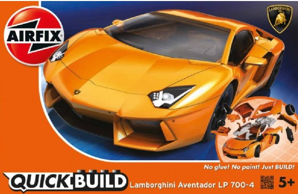 Airfix Models J6007 Quick Build Lamborghini Aventador Car (Snap)