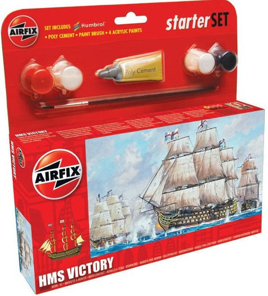 Airfix Models 55104 HMS Victory Sailing Ship (6L) Small Starter Set w/
