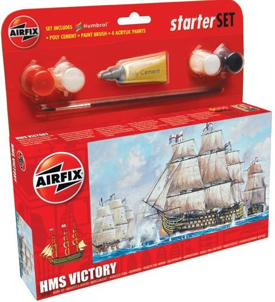 Airfix Models 55104 HMS Victory Sailing Ship (6L) Small Starter Set w/