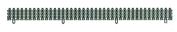 Kato 23-223 Double Track Plate Fences and Poles Fence Sections 4 ea: L