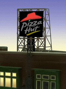 Miller Engineering 338985 N/Z Pizza Flashing Neon Rooftop Billboard Sm This is a Miller Engineering 338985 N/Z Scales Pizza Flashing Neon Rooftop Billboard - Light Works USA Small 13/16 x 13/16 .8 x .8cm.I523.Condition: Factory New (C-9All original; unused; factory rubs and evidence of handling, shipping and factory test run.Standards for all toy train related accessory items apply to the visual appearance of the item and do not consider the operating functionality of the equipment.Condition and Grading Standards are subjective, at best, and are intended to act as a guide. )Operational Status: FunctionalThis item is brand new from the factory.Original Box: Yes (P-9May have store stamps and price tags. Has inner liners.)Manufacturer: Miller EngineeringModel Number: 338985MSRP: $22.95Scale/Era: N ScaleModel Type: AccessoriesAvailability: Ships in 2 Business Days!The Trainz SKU for this item is P12108944. Track: 12108944 - No Location Assigned - 001 - TrainzAuctionGroup00UNK - TDIDUNK