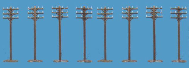 Modelscene 5182 20MM ROUND SPEAKERS Telegraph Poles. Pack of 8 finely detailed lineside telegraph poles with extra-wide top cross-bars to allow for the width to be cut down as required.Condition: Factory New (C-9All original; unused; factory rubs and evidence of handling, shipping and factory test run.Standards for all toy train related accessory items apply to the visual appearance of the item and do not consider the operating functionality of the equipment.Condition and Grading Standards are subjective, at best, and are intended to act as a guide. )Operational Status: FunctionalThis item is brand new from the factory.Original Box: Yes (P-9May have store stamps and price tags. Has inner liners.)Manufacturer: ModelsceneModel Number: 5182MSRP: $8.99Scale/Era: N ScaleModel Type: AccessoriesAvailability: Ships in 3 to 5 Business Days.The Trainz SKU for this item is P11590802. Track: 11590802 - FS - 001 - TrainzAuctionGroup00UNK - TDIDUNK