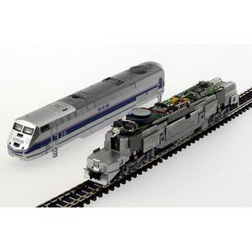 MRC 1645 N DCC Dual Mode Sound & Control Decoder Generic Diesel for Ka This is an MRC 1645 N Scale Digital Command Control (DCC) Dual Mode Sound & Control Decoder Generic Diesel for Kato P42, E8 & E9 Locomotives (Sold Seperately). MRC DCC decoders feature easy installation. Each fits in place of the indicated locomotives existing light board. Each features two types of diesel sounds, multiple bells and horns and 28 accessory functions. Easy installation. Includes speaker.Condition: Factory New (C-9All original; unused; factory rubs and evidence of handling, shipping and factory test run.Standards for all toy train related accessory items apply to the visual appearance of the item and do not consider the operating functionality of the equipment.Condition and Grading Standards are subjective, at best, and are intended to act as a guide. )Operational Status: FunctionalThis item is brand new from the factory.Original Box: Yes (P-9May have store stamps and price tags. Has inner liners.)Manufacturer: MRCModel Number: 1645MSRP: $99.98Scale/Era: N ScaleModel Type: DCC/ElectricalAvailability: Ships in 1 Business Day!The Trainz SKU for this item is P11508483. Track: 11508483 - No Location Assigned - 001 - TrainzAuctionGroup00UNK - TDIDUNK